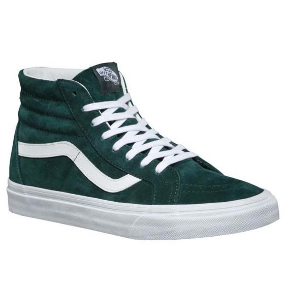 Vans Sk8-Hi Reissue Pig Suede Darkest Spruce/ True White VN0A2XSBU5J (Men's)
