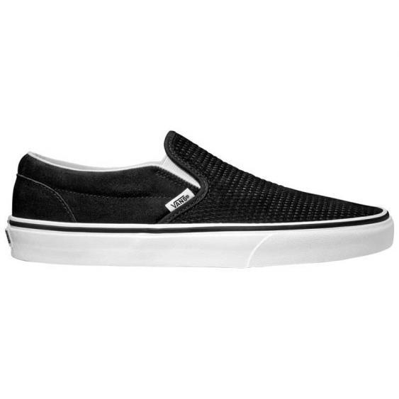 Vans Classic Slip-On Embossed Suede Black/ True White VN0A38F7U7E (Men's)