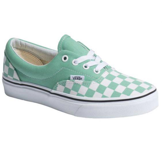 Vans Era Checkerboard Neptune Green/ True White VN0A3FRVOV (Women's)