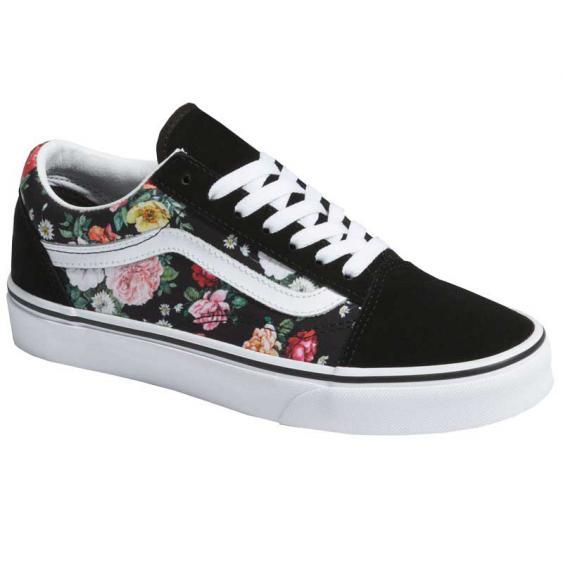 Vans Old Skool Garden Floral Black/ True White VN0A4BV5V8X (Women's)