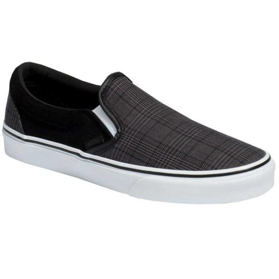 Vans Classic Slip-On Suiting Black/ True White VN0A4BV3AJS (Men's)