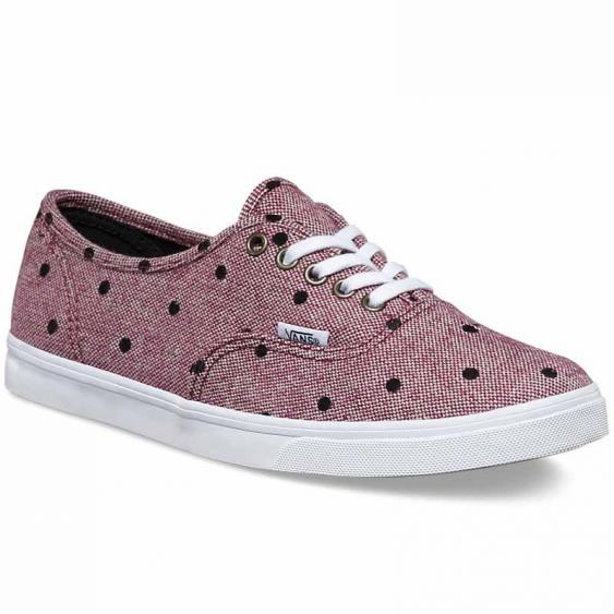 Vans Authentic Lo Pro Dots Burgandy / White VN-0004MMJQD (Women's)