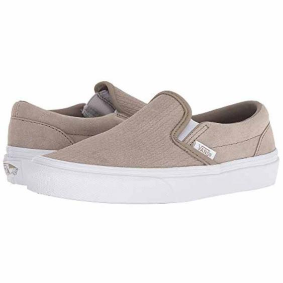 Vans Classic Slip On Suede Embossed Desert Taupe VN0A38F7U7P (Women's)