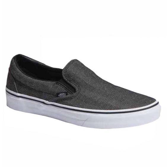 Vans Classic Slip On Oversize Herringbone Black / White VN0A38F7U4J (Men's)
