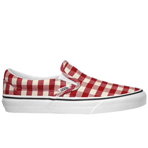 Vans Classic Slip-On Racing Red/ True White VN0A38F7VDY (Women's)