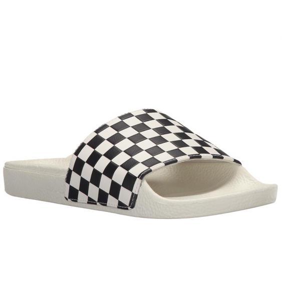 Vans Slide-On White/ Black Checkerboard VN0004LG27K (Women's)