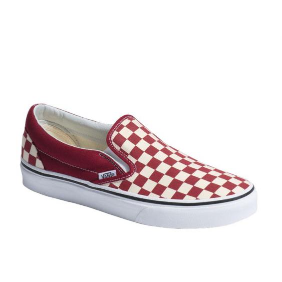 Vans Classic Slip-On Rumba Red/ True White Checkerboard VN0A38F7VLW (Men's)