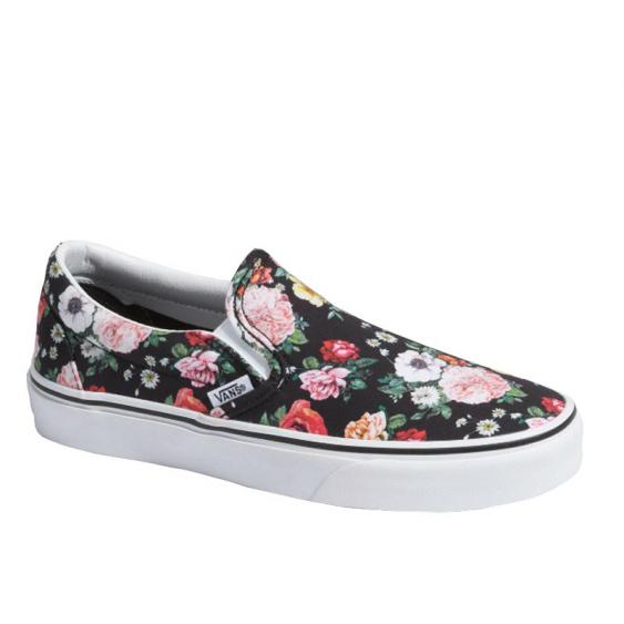 Vans Classic Slip-On Garden Floral Black/ True White VN0A4BV3V8X (Women's)
