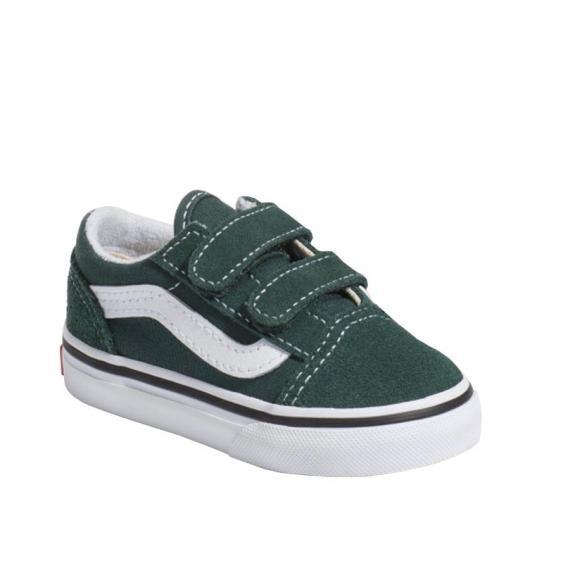 Vans Old Skool V Trekking Green/ True White VN0A38JNV3N (Infant)