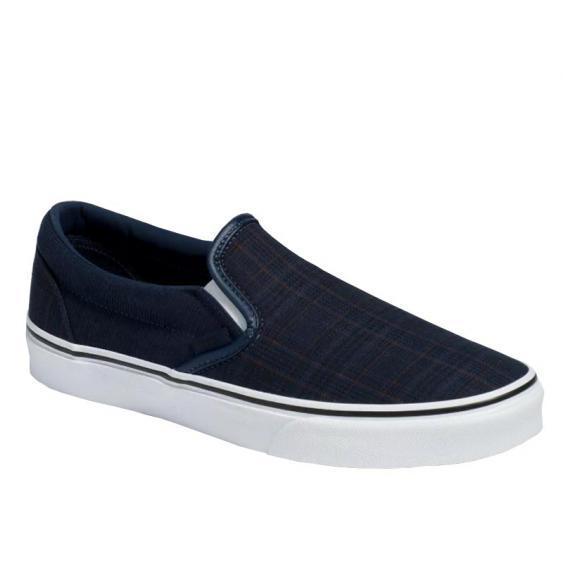 Vans Classic Slip-On Dress Blues Suiting/ True White VN0A4BV3T5J (Men's)