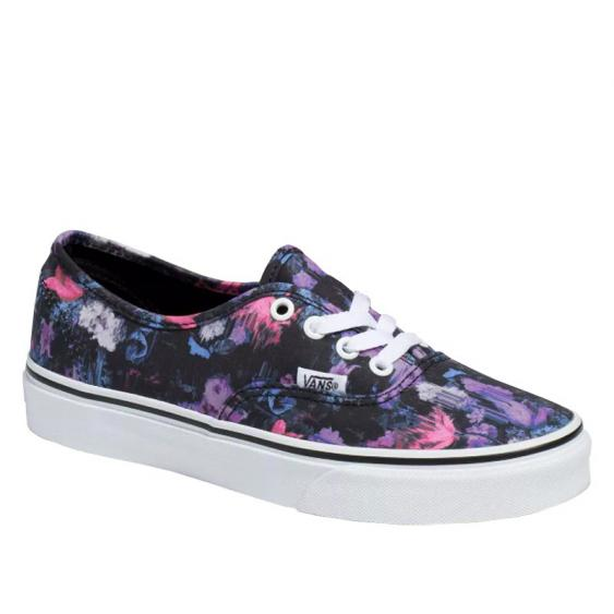 Vans Authentic Warped Floral Black/ True White VN0A2Z5IT7R (Women's)