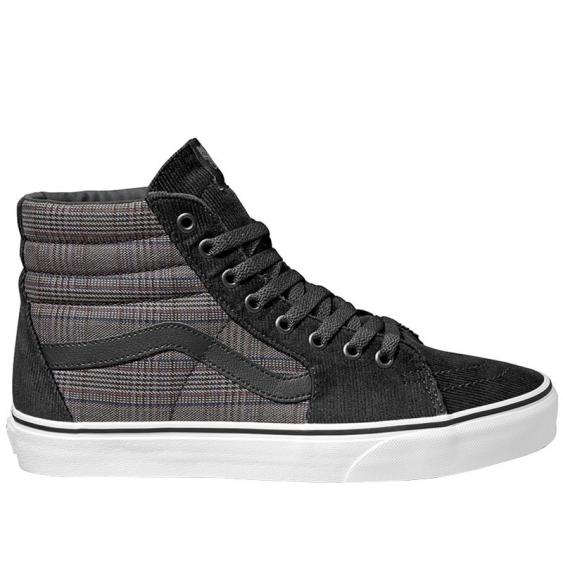 Vans Sk8-Hi Black Suiting/ True White VN0A4BV6AJS (Men's)
