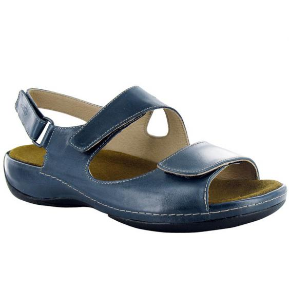 Wolky Liana Marine Blue Smooth Leather 315-380 (Women's)
