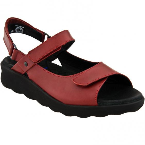Wolky Pichu Red Smooth Leather 1890-350 (Women's)