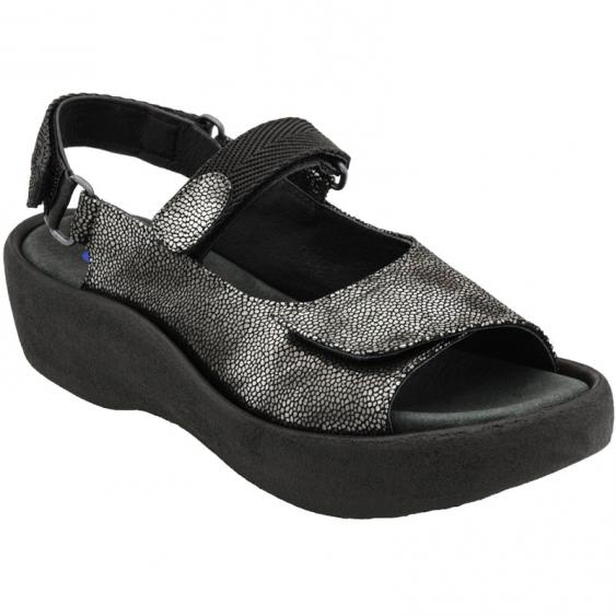 Wolky Jewel Black Caviar Leather 3204-600 (Women's)