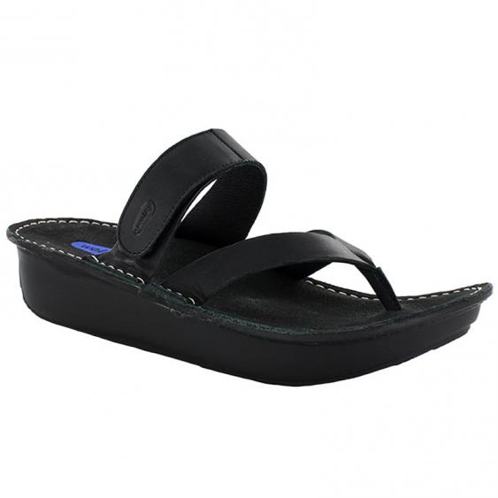 Wolky Tahiti Black Mighty Leather 6180-300 (Women's)
