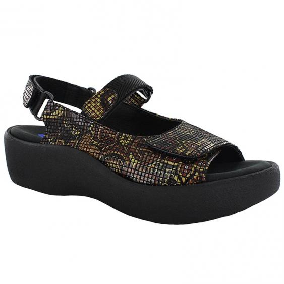Wolky Jewel Black Flower Print 3204-802 (Women's)