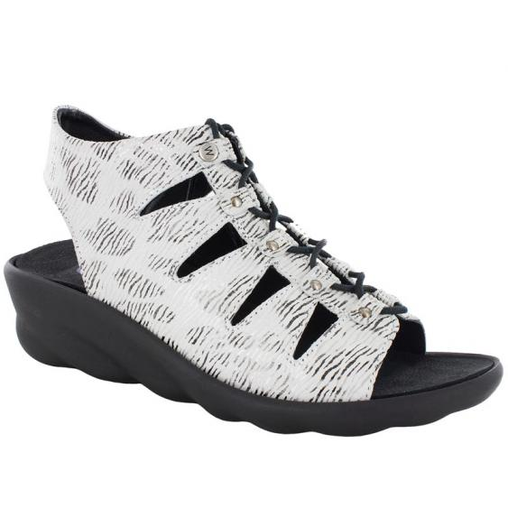 Wolky Arena White / Black Canals 3126-711 (Women's)