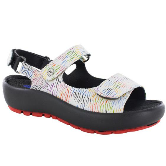 Wolky Rio White Multi Canals 3325-798 (Women's)