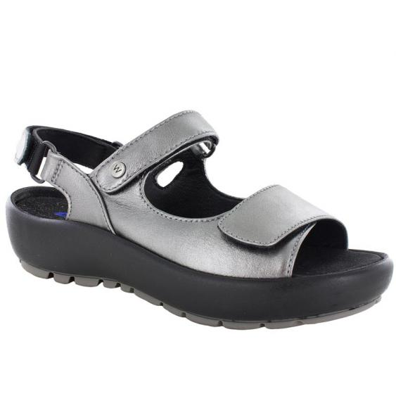 Wolky Rio Anthracite Metallic 3325-821 (Women's)