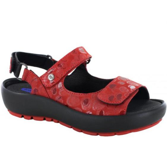 Wolky Rio Red Circles 3325-12-500 (Women's)