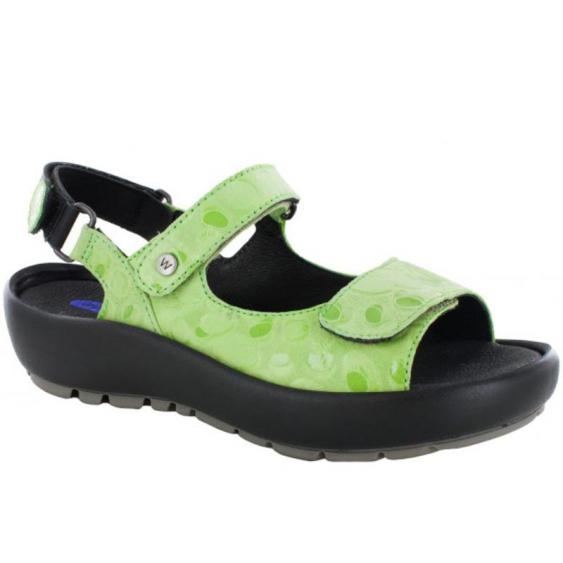 Wolky Rio Lime Circles 3325-12-750 (Women's)