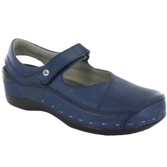 Wolky Strap-Cloggy Blue Vegi 6015-580 (Women's)