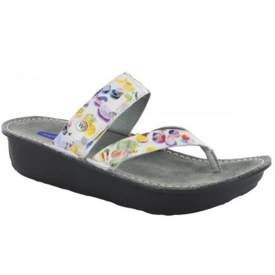 Wolky Tahiti Multi White Circles 6180-12-980 (Women's)