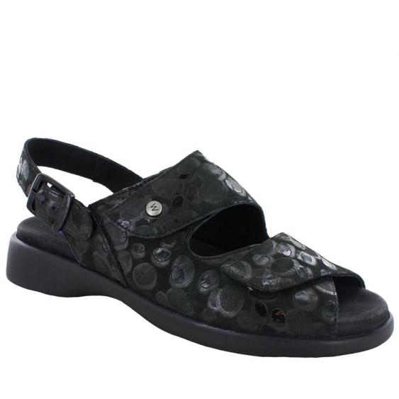 Wolky Nimes Black Circles 617-12-000 (Women's)