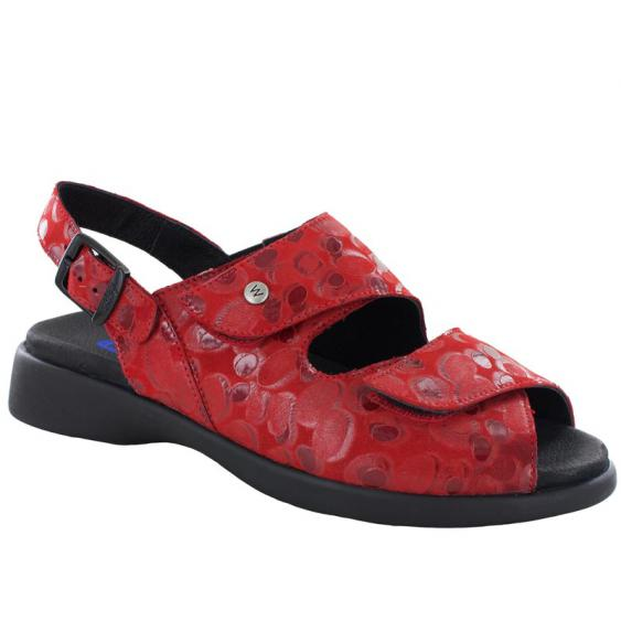 Wolky Nimes Red Circles 617-12-350 (Women's)