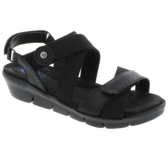 Wolky Electra Black Mighty Leather 667-30-000 (Women's)