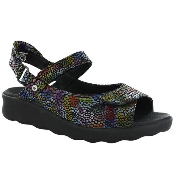 Wolky Pichu Black Multi Color Fantasy 1890-801 (Women's)