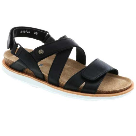 Wolky Sunstone Black Summer Maverick Lux 8480-30-070 (Women's)
