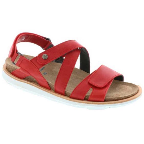 Wolky Sunstone Red Summer Maverick Lux 8480-30-570 (Women's)