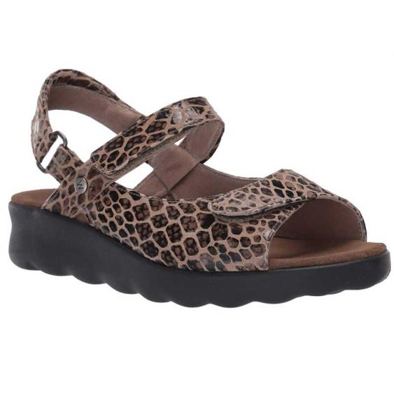 Wolky Pichu Taupe Cobra Suede 1890-42-150 (Women's)