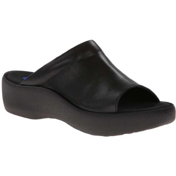 Wolky Nassau Black Smooth Leather 3201-300 (Women's)
