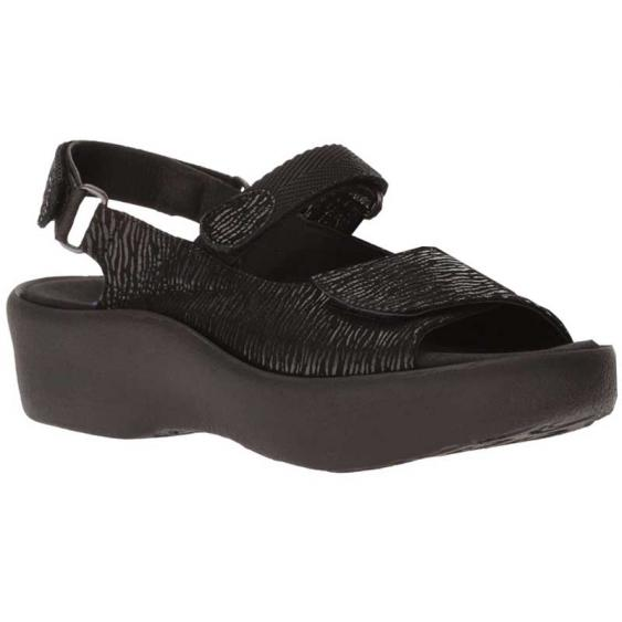 Wolky Jewel Black Canals 3204-70-000 (Women's)
